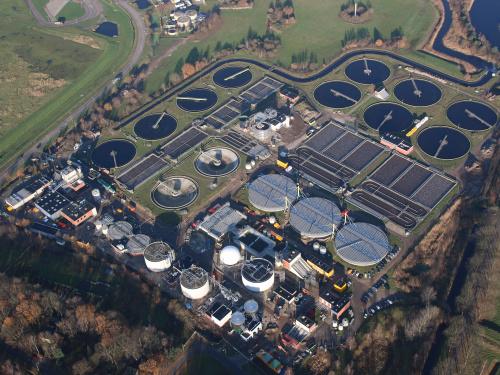 rioolwaterzuivering Tilburg op grote hoogte