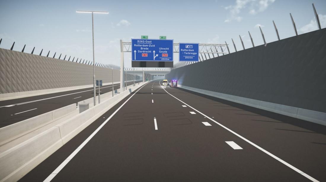 Met Digital Twin testen en ontwikkelen we software en kunnen we voor openstelling van tunnel, brug of sluis al operators en hulpdiensten trainen.
