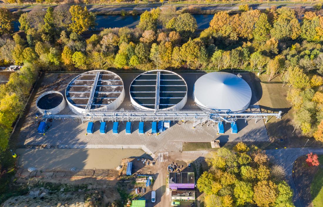 modulair gebouwde rioolwaterzuivering in Weert
